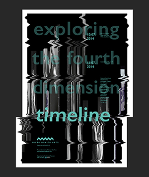 Timeline exhibition poster